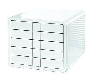 HAN 1551-12 Schubladenbox iBox, 5 geschlossene Schübe für Formate bis C4, weiß