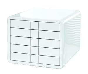 HAN 1551-12 Schubladenbox i-Box, DIN A4/C4, 5 geschlossene Schubladen, weiß