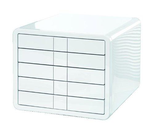 HAN-1551-12-Schubladenbox-i-Box-Innovative-und-Designpreis-ausgezeichnete-Box-in-Premium-Qualitt-Mit-5-geschlossenen-Schubladen-wei