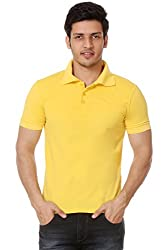 Men's Polo T shirt (Xlarge)_TM-1591YELLOW-XL
