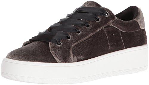 Steve Madden Women's Bertie-V Fashion Sneaker, Taupe Velvet, 7.5 M US