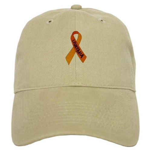 CafePress Leukemia Ribbon Cap - Standard Khaki