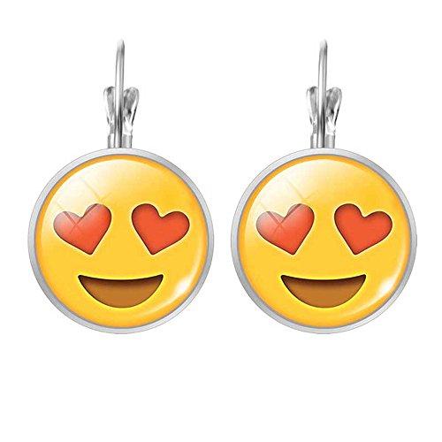 union-tesco-3d-emoji-glas-edelstein-clip-auf-ohrringe-ausdruck-ohrringe