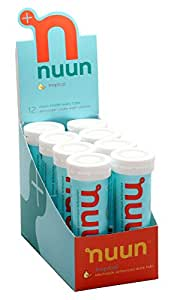 Nuun Active Hydration, Electrolyte Enhanced Drink Tablets, Tropical Fruit (8 Tubes/12 Tabs Per Tube)