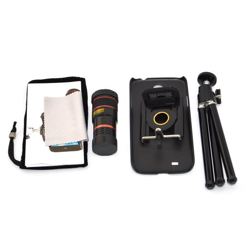 Apexel 8X Zoom Camera Lens Kit With Tripod/Case For Samsung Galaxy S4 I9500 , Sprint L720, At&T I337, Verizon I545, T-Mobile M919 , R970