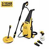 Powerplus Outdoor Garden 105 Bar 1500 Watt Power Pressure Washer with Accessories & Patio Cleaner POWXG9020 - 3 Year Home User Warranty