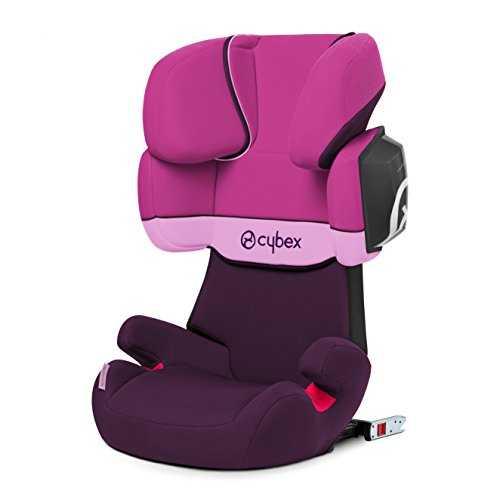 Cybex 515117007 Silver Solution X2 - Fix Seggiolino Auto per Bambini, Gruppo 2/3 (15 - 36 Kg), Collezione 2015, Purple Rain