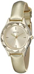 Breda Women's 2435D Analog Display Quartz Gold Watch