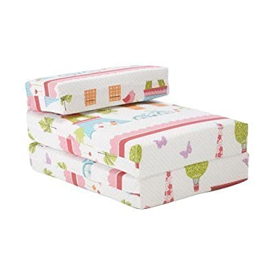 Ready Steady Bed Children's Chair Bed Futon Fold Out Z Bed Paris Design Guest Bed Folding Mattress