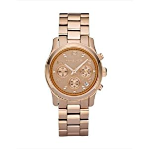 New MICHAEL KORS MK5368 Mid Size Rose Gold Tone Limited Edition Signature Watch