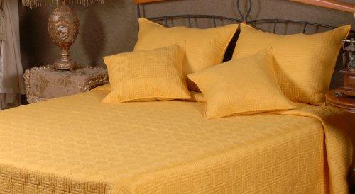 Tache 5 Piece Festive Bright Yellow Brick Road Bedspread - Queen