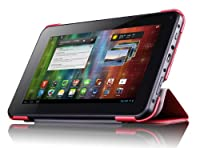 Prestigio Leather Case with Integrated Stand for 7 inch MultiPad - Red by Prestigio