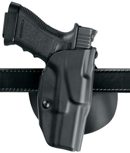 Safariland 6378 ALS, Paddle & Belt Slide Holster, Glock 17, 22 w/ITI M3 Light, Plain Black, Left Hand
