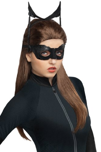 Secret Wishes Batman Dark Knight Rises Catwoman Wig, Black, One Size