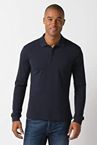 80th Long Sleeve Pique Polo with Embossed Croc