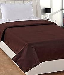 Warmland Fleece Solid Polyester Single Blanket - Blue
