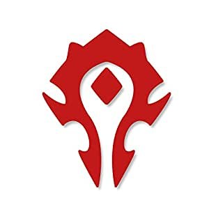 WORLD OF WARCRAFT HORDE PVP - WOW - Vinyl Car Decal Sticker #1902 | Vinyl Color: Red