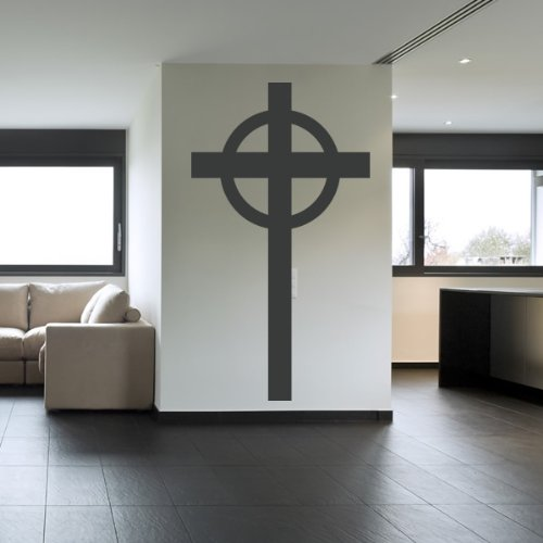 Plain Croce Wall Sticker religiosa Adesivo Art disponibile in 5 dimensioni e 25 colori Grande Rosso fragola
