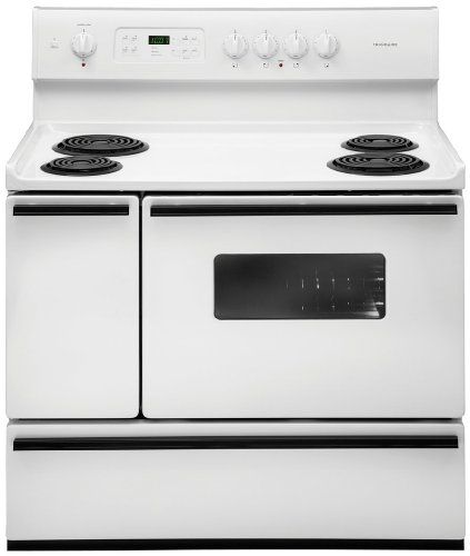 """Frigidaire 40"""" Electric Range with 2 Ovens, 4 Burners"""
