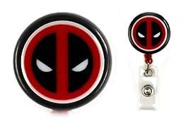 Deadpool inspired Decorative Badge Holder