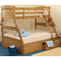 Epsom Triple Sleeper Storage Bunk Bed Finish: Oak