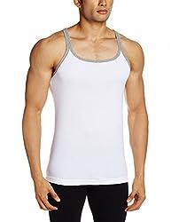 Jockey Mens Cotton Vest (8901326047798_US31-0105-WHITE White L)
