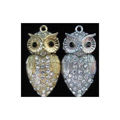 High Quality 32 GB Owl Shape Crystal Jewelry USB Flash Memory Drive Necklace(Silver) by T &  J