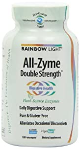 Rainbow Light All-Zyme Double Strength, Plant-Source, Vcaps, 180 vcaps