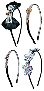 iOna Beauty Essentials Hair Alice Bandeaux Hairband Headbend Hairpins Band AB4SET1 for Girls 1