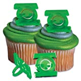 12 pack Green Lantern Movie Cupcake Rings
