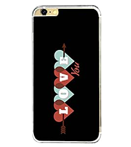 Love 2D Hard Polycarbonate Designer Back Case Cover for Apple iPhone 6 Plus :: Apple iPhone 6+