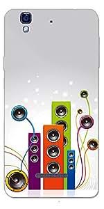SEI HEI KI Designer Back Cover For Micromax Yu Yureka Plus AQ5510 - Multicolor