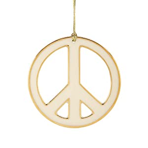 Amazon.com - Christmas Ornaments Peace Sign Ornament ...