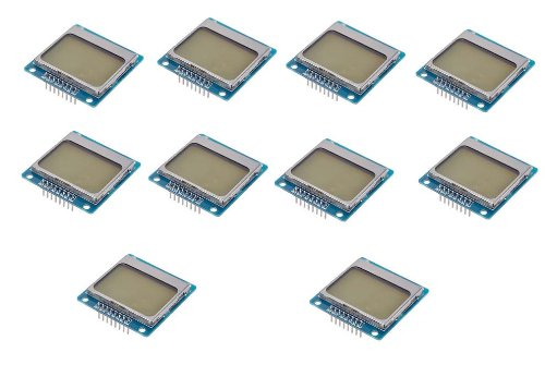 10 Pcs 84X48 84*48 Nokia 5110 Lcd Module With Blue Backlight Adapter Pcb