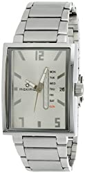 Maxima Attivo Analog Silver Dial Mens Watch - 25141CMGI