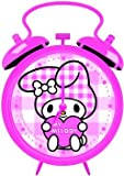 My Melody Pink Check Mini Alarm Clock