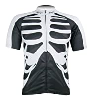 Skull Bicycle Bike Comfortable Outdoor Jersey Shirt (XX-Large)