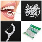 100pcs 2 In1 Dental Flosser Floss Tooth Picks Teeth Clean Food Debris