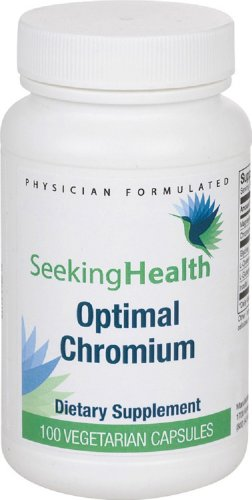 Optimal Chromium | Provides Chromium Picolinate, With Added Glycine, L-Cysteine Hcl, L-Glutamic Acid, And Inositol | 100 Easy-To-Swallow Vegetarian Capsules | Free Of Common Allergens | Seeking Health