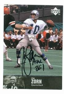 Jim Zorn autographed Football Card (Seattle Seahawks) 1997 Upper Deck #177 Picture