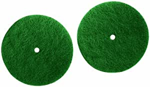 Genuine Koblenz Scrubbing Pads - 2 Pads and 2 Plastic Retainers (colors vary)