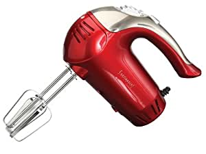 Continental Electric Metallic Red Xl 5 Speed Turbo Boost Hand Mixer