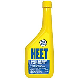 HEET 28201 Gas-Line Antifreeze and Water Remover, 12 Fl oz.