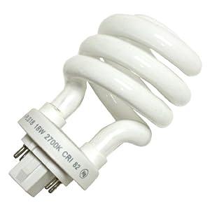 Viva 25122 - PLS 18W 27k Twist Pin Base Compact Fluorescent Light Bulb