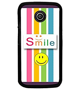 PrintDhaba Quote D-3811 Back Case Cover for MOTOROLA MOTO E (Multi-Coloured)