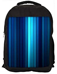 "Snoogg Dark And Lite Blue Design Casual Laptop Backpak Fits All 15 - 15.6"" Inch Laptops"