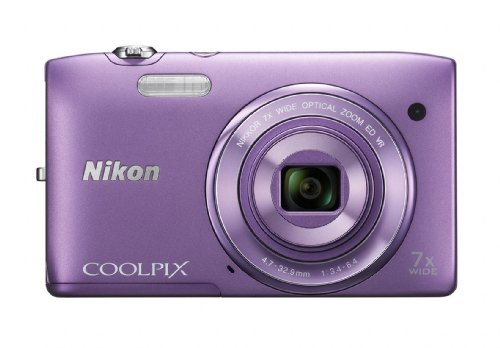 Nikon COOLPIX S3500 Compact Digital Camera - Purple (20.1MP, 7x Optical Zoom) 2.7 inch LCD