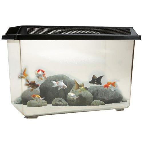 ocean-free-pt068-goldfish-12l-fish-tank-bowl-starter-kit-reptile-vivarium-turtle-tank-or-breeding-bo