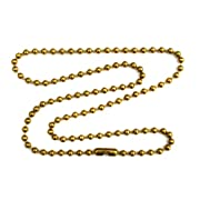 3mm Brass Ball Chain Necklace