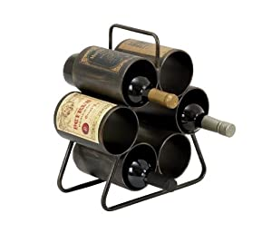 6 Bottle Wine Enthusiast Metal Wine Bottle